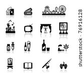icons set fun and entertainment ... | Shutterstock .eps vector #76916128
