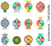 Fortune Wheel Vector Spin Game...