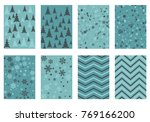 winter poster backgrounds with... | Shutterstock .eps vector #769166200
