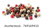 pepper mix. black  red and... | Shutterstock . vector #769169413