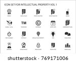 concept of patents and... | Shutterstock .eps vector #769171006