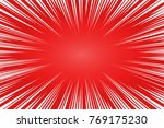 red and white radial lines... | Shutterstock .eps vector #769175230