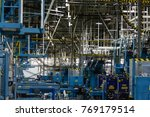 newspaper printing factory | Shutterstock . vector #769179514