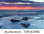sunrise seascape and shades of... | Shutterstock . vector #769182988