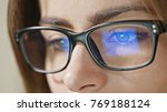 close up shot of woman eyes in... | Shutterstock . vector #769188124