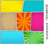 comic book colorful template... | Shutterstock .eps vector #769188958