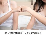 a couple sexy girls in white... | Shutterstock . vector #769190884