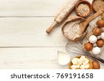 cooking ingredients background. ... | Shutterstock . vector #769191658