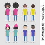 set of four characters  front... | Shutterstock .eps vector #769192078