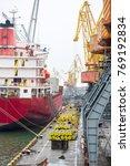 vessel dry cargo on loading ... | Shutterstock . vector #769192834