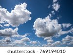 white clouds. in the background ... | Shutterstock . vector #769194010