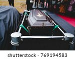 coffin before sinking into... | Shutterstock . vector #769194583
