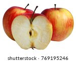 two and a half apples without... | Shutterstock . vector #769195246