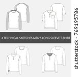 4 fashion technical sketches... | Shutterstock .eps vector #769195786