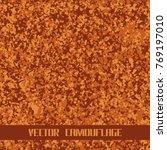 vector seamless camouflage | Shutterstock .eps vector #769197010