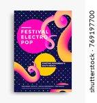 festival electro pop poster... | Shutterstock .eps vector #769197700