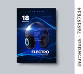 electro party invitation design ... | Shutterstock .eps vector #769197814