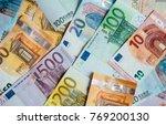 euro money. euro cash... | Shutterstock . vector #769200130