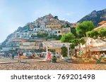 positano  italy   september 30  ... | Shutterstock . vector #769201498