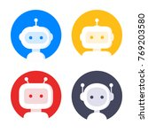 robot icon set. bot sign design....