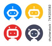 robot icon set. bot sign design.... | Shutterstock .eps vector #769203583