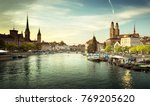 zurich city center with famous... | Shutterstock . vector #769205620