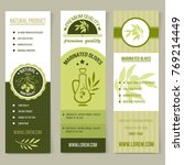 vector vertical banners with... | Shutterstock .eps vector #769214449