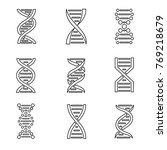 dna icon set. isolated on a... | Shutterstock . vector #769218679