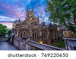 southwark cathedral with sunset ... | Shutterstock . vector #769220650