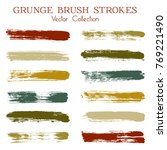 watercolor  ink or paint brush... | Shutterstock .eps vector #769221490