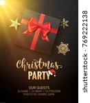 christmas party poster... | Shutterstock .eps vector #769222138