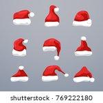 santa hat vector christmas... | Shutterstock .eps vector #769222180
