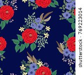 seamless folk pattern in small... | Shutterstock .eps vector #769223014