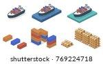 isometric 3d vector... | Shutterstock .eps vector #769224718