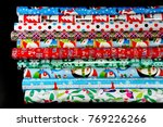 colorful wrapping paper... | Shutterstock . vector #769226266