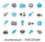 different car part and services ... | Shutterstock .eps vector #769229284