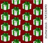 cartoon style seamless pattern... | Shutterstock .eps vector #769230490