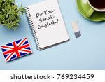 learn english concept. time to... | Shutterstock . vector #769234459