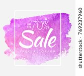 watercolor special offer  super ... | Shutterstock .eps vector #769237960