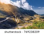 transfagarasan pass in summer.... | Shutterstock . vector #769238209