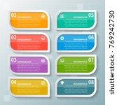 vector abstract 3d paper... | Shutterstock .eps vector #769242730
