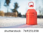 bottle with non freezing... | Shutterstock . vector #769251358