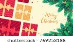 christmas horizontal banner...   Shutterstock .eps vector #769253188