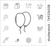 party balloons line icon. set...