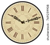 antique old clock face. old... | Shutterstock .eps vector #769259908