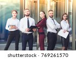 young office workers on the... | Shutterstock . vector #769261570