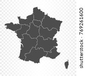 france map isolated on... | Shutterstock .eps vector #769261600