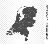 netherlands map isolated on... | Shutterstock .eps vector #769261639