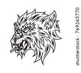 wolf vector line art | Shutterstock .eps vector #769265770