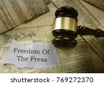 freedom of the press news... | Shutterstock . vector #769272370